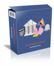 Bankruptcy PLR Articles. (PLR)