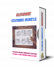 USA Alphabet Coloring Bundle. (Uncolored Designs)