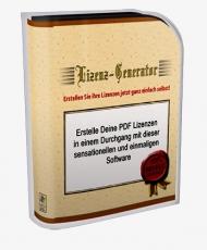 Lizenz Generator mit Brander. MRR