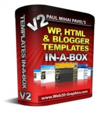 WP, HTML And Blogger Templates In-A-Box V2. (MRR)
