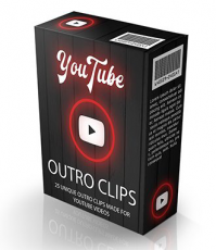 25 Youtube Outro Clips. (MRR)