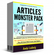 Articles Monster Pack V2. (PLR)
