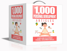 1000 Personal Development Articles. (Englische PLR)