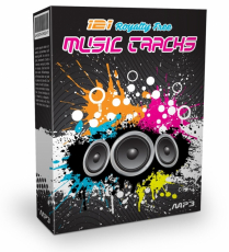 121 Royalty Free Music Tracks. (PLR)