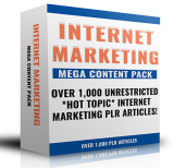 Internet Marketing Mega Content Pack. (PLR)