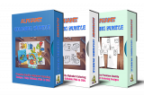 USA Alphabet Coloring Bundle Komplet Paket.