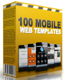 100 Mobile Web Templates. (Englische MRR)
