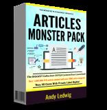 Articles Monster Pack V2. (Englische PLR)