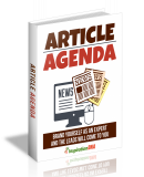 Article Agenda. (MRR)